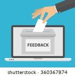 online feedback concept. hand... | Shutterstock .eps vector #360367874