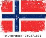 Norway Vector Grunge Flag...