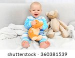 adorable baby with teddy bears...   Shutterstock . vector #360381539