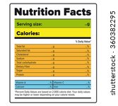 nutrition facts label vector... | Shutterstock .eps vector #360382295