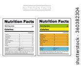 nutrition facts label vector... | Shutterstock .eps vector #360382304