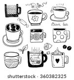 hand draw black and white funny ... | Shutterstock .eps vector #360382325