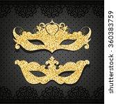 carnival masks. set. objects   Shutterstock .eps vector #360383759