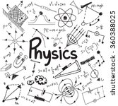 physics science theory law and... | Shutterstock .eps vector #360388025