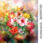 Bouquet Of Multicolored Flower...