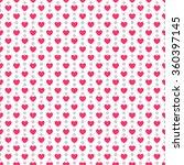heart shape seamless pattern.... | Shutterstock . vector #360397145