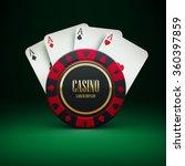 illustartion of casino chip... | Shutterstock .eps vector #360397859