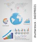 infographic map | Shutterstock .eps vector #360398321
