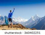 winner   success concept. hiker ... | Shutterstock . vector #360402251