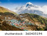 view on namche bazar  khumbu... | Shutterstock . vector #360405194
