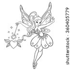 outlined beautiful fairy with... | Shutterstock .eps vector #360405779
