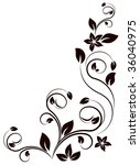floral element | Shutterstock .eps vector #36040975