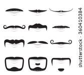 moustache shapes vector set...   Shutterstock .eps vector #360410384