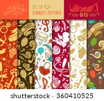 vector set of seamless love... | Shutterstock .eps vector #360410525
