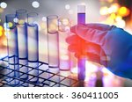 double exposure of scientist... | Shutterstock . vector #360411005