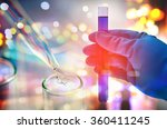 double exposure of scientist... | Shutterstock . vector #360411245