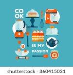 vector kitchenware ... | Shutterstock .eps vector #360415031