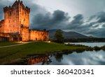 ross castle illuminated at dusk ...   Shutterstock . vector #360420341
