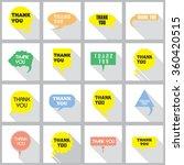 thank you vector  appreciation... | Shutterstock .eps vector #360420515