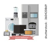 home electronics appliances.set ... | Shutterstock .eps vector #360420869