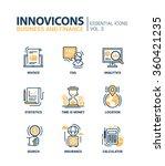 set of modern vector office... | Shutterstock .eps vector #360421235