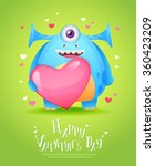 cute cartoon monster in love...   Shutterstock .eps vector #360423209