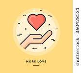 more love  flat design thin... | Shutterstock .eps vector #360428531