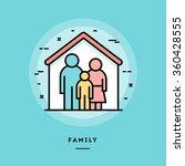 family  flat design thin line... | Shutterstock .eps vector #360428555