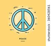 peace  flat design thin line... | Shutterstock .eps vector #360428561