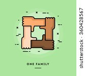 one family  flat design thin... | Shutterstock .eps vector #360428567