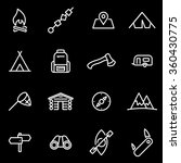 vector line camping icon set. | Shutterstock .eps vector #360430775