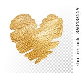 vector gold paint heart on... | Shutterstock .eps vector #360436559