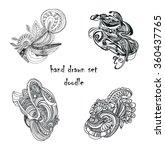hand drawn retro waves pattern... | Shutterstock .eps vector #360437765