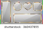 vector glass modern banner set... | Shutterstock .eps vector #360437855