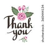 hand drawn garden floral thank... | Shutterstock .eps vector #360444134