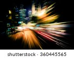 moving through modern city... | Shutterstock . vector #360445565
