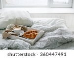 morning. breakfast in the bed | Shutterstock . vector #360447491