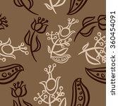 pattern  doodles ellipses ...   Shutterstock . vector #360454091