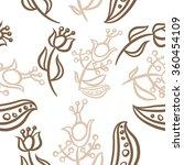 pattern  doodles ellipses ... | Shutterstock . vector #360454109