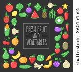 fresh fruit and vegetables on... | Shutterstock .eps vector #360454505