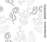 pattern  doodles ellipses ...   Shutterstock . vector #360459551