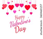 valentine's day vintage... | Shutterstock .eps vector #360460157