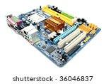 modern computer mainboard... | Shutterstock . vector #36046837