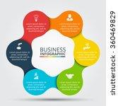 vector circle infographic....   Shutterstock .eps vector #360469829