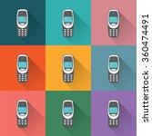 old mobile phones | Shutterstock .eps vector #360474491