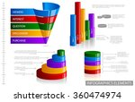 sales funnel and glossy... | Shutterstock .eps vector #360474974