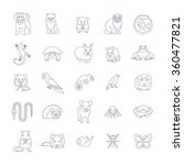 animals pets vector flat thin... | Shutterstock .eps vector #360477821