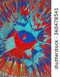 blue and red spray paint on... | Shutterstock . vector #360478541