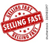 selling fast rubber stamp on... | Shutterstock .eps vector #360481097