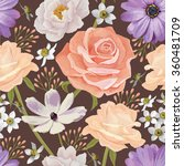 elegance seamless color flower... | Shutterstock .eps vector #360481709